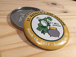 St Patrick's Day Parade Button